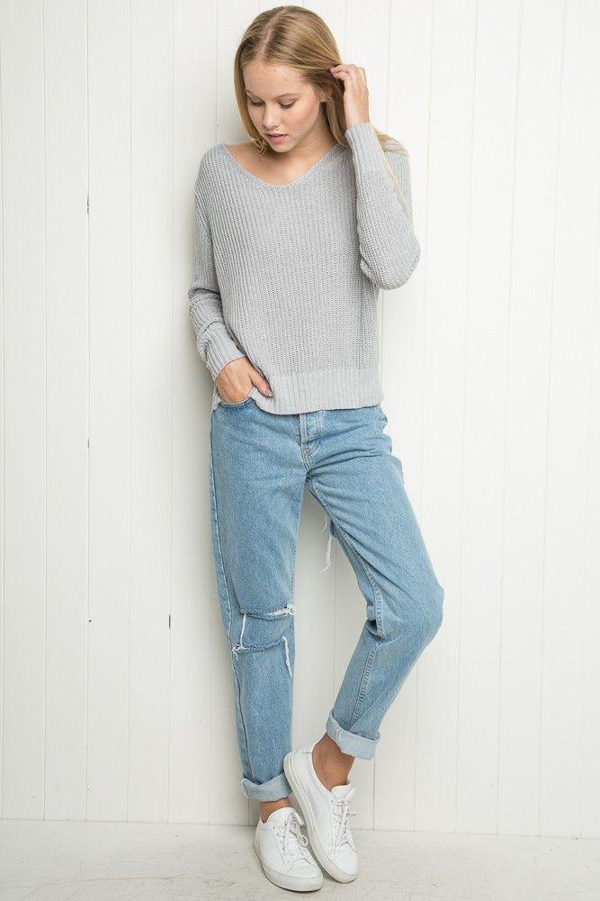 22cd91259532 Brandy ♥ Melville | High-Rise Ripped Mom Jeans - Pants - Bottoms - Clothing  (really want a pair of light wash mom jeans - these ones are perfect)