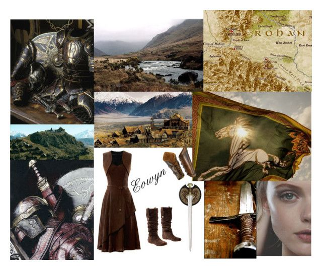 """""""Eowyn"""" by sally-plouffe-writerr ❤ liked on Polyvore featuring UGG Australia and lotr"""