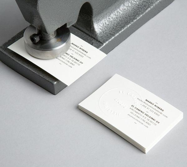 El camino hhelsinkis embossed handmade business card design el camino hhelsinkis embossed handmade business card reheart Gallery