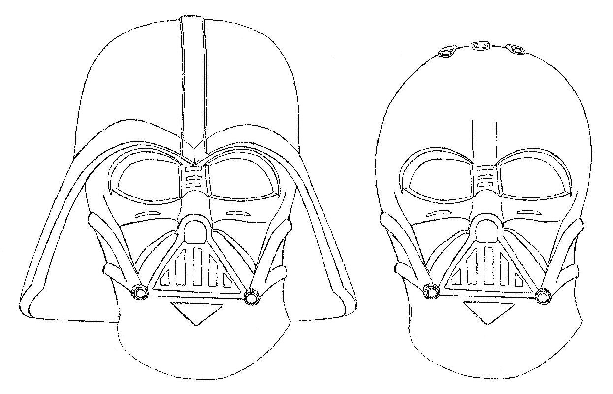 Darth Vader Mask Coloring Page