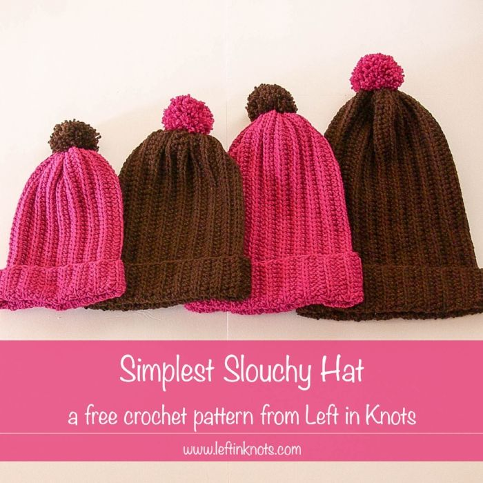 Simplest Slouchy Hat | Crochet patterns | Pinterest | Gorros, Tejido ...