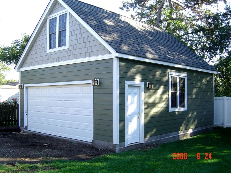 Detached garage for alley access even in the color we for Idee loft garage
