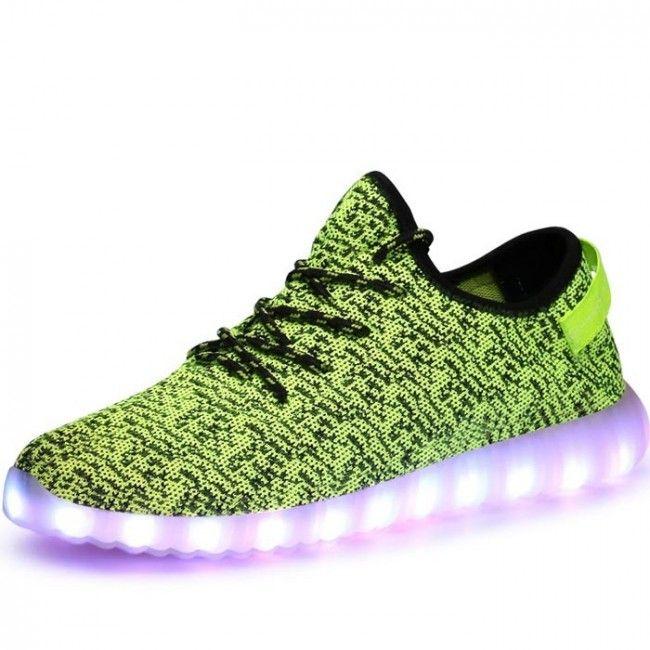 d04b87694c610 Low Cut Yeezy Boost LED Light Up Shoes For Men