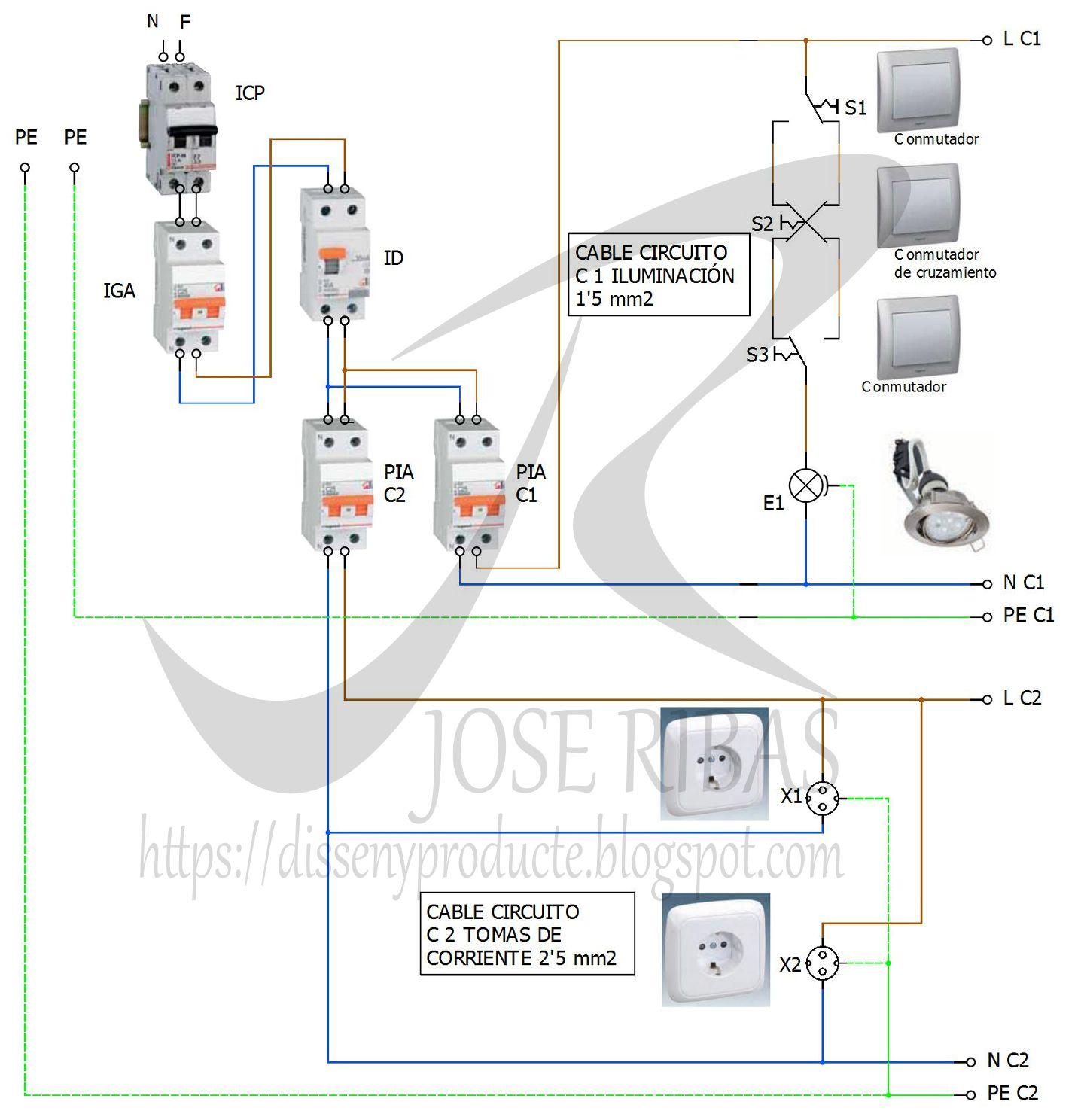 Instalaci n de interruptores conmutados y bases de enchufe - Interruptores y enchufes ...