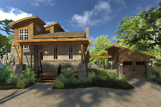 Contemporary Style House Plan 2 Beds 2 Baths 985 Sq Ft Plan 120 190 Contemporary House Plans Tuscan House Plans Tuscan House