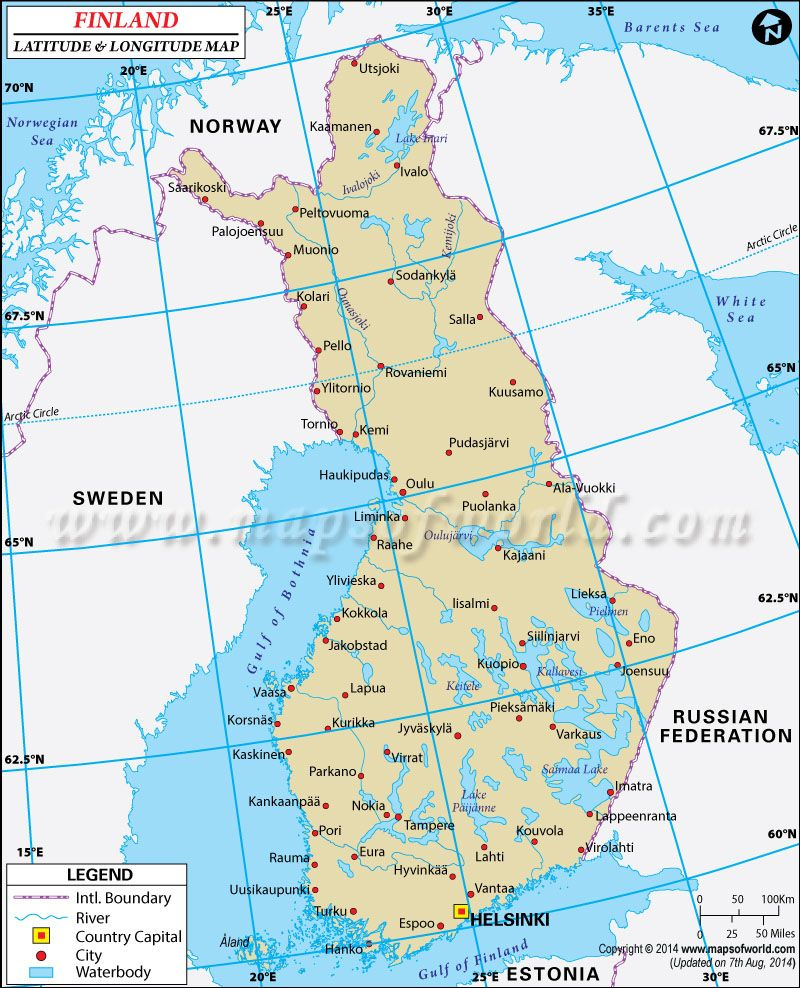 Finland latitude and longitude map latitude longitude maps latitude and longitude of finland is n and e find finland latitude and longitude map showing comprehensive details including cities roads towns gumiabroncs Images