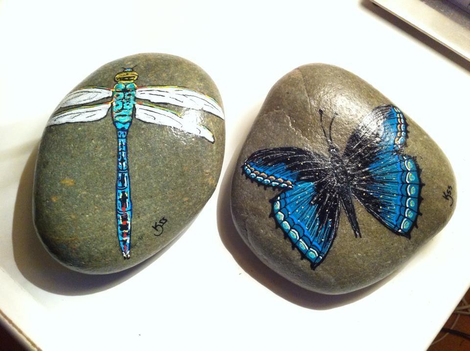Guldsmed og sommerfugl