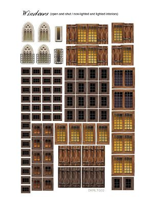 Printable windows Printables for TLW Doll house wallpaper