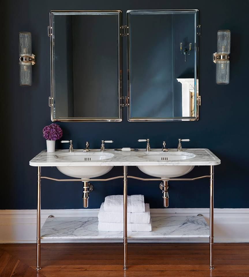 The Double Ladybower By Martin Brudnizki For Drummonds #marble #vanity  #basin #double
