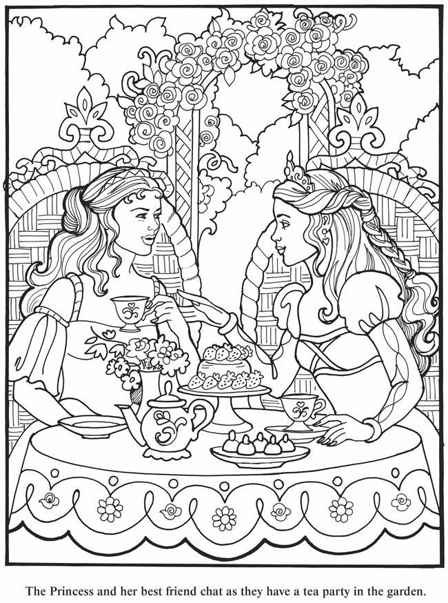 Print coloring pages and drawings to paint Princess Leonora