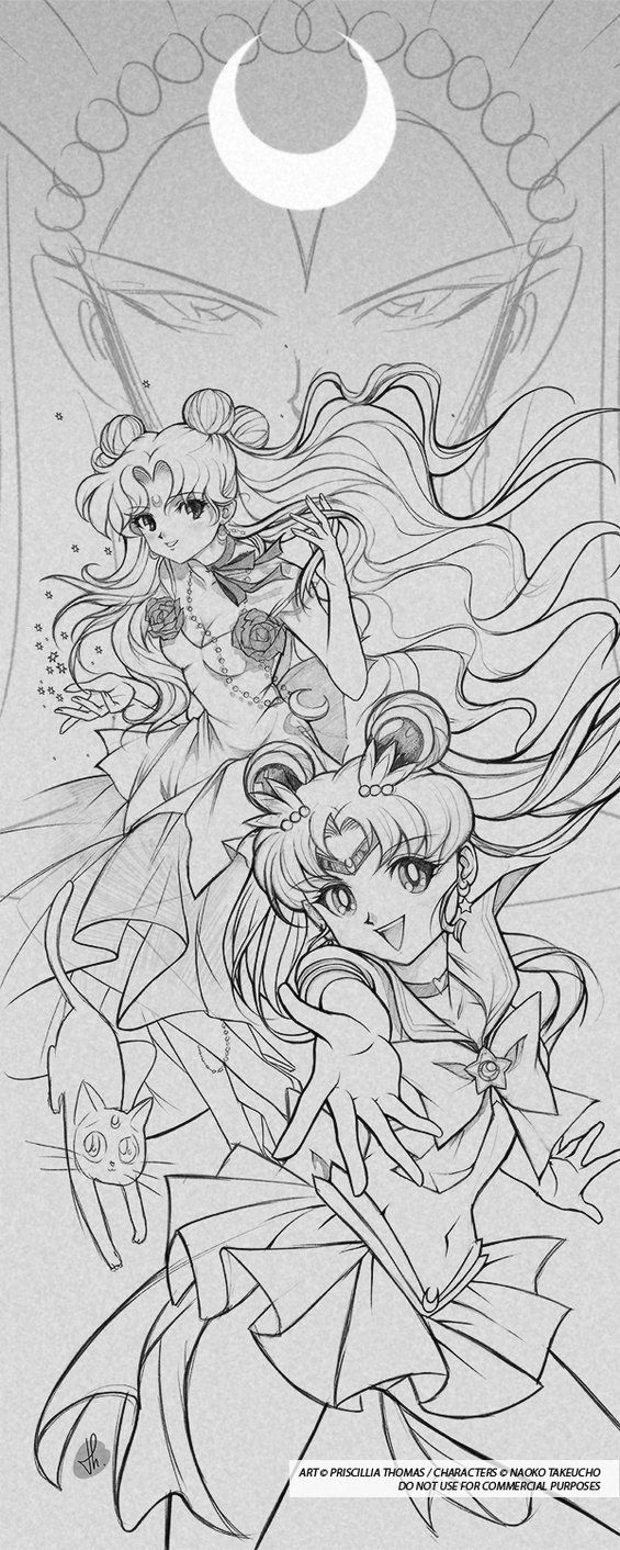 SAILOR and LUNA by *TholiaArt on deviantART | Moon Prism Power ...