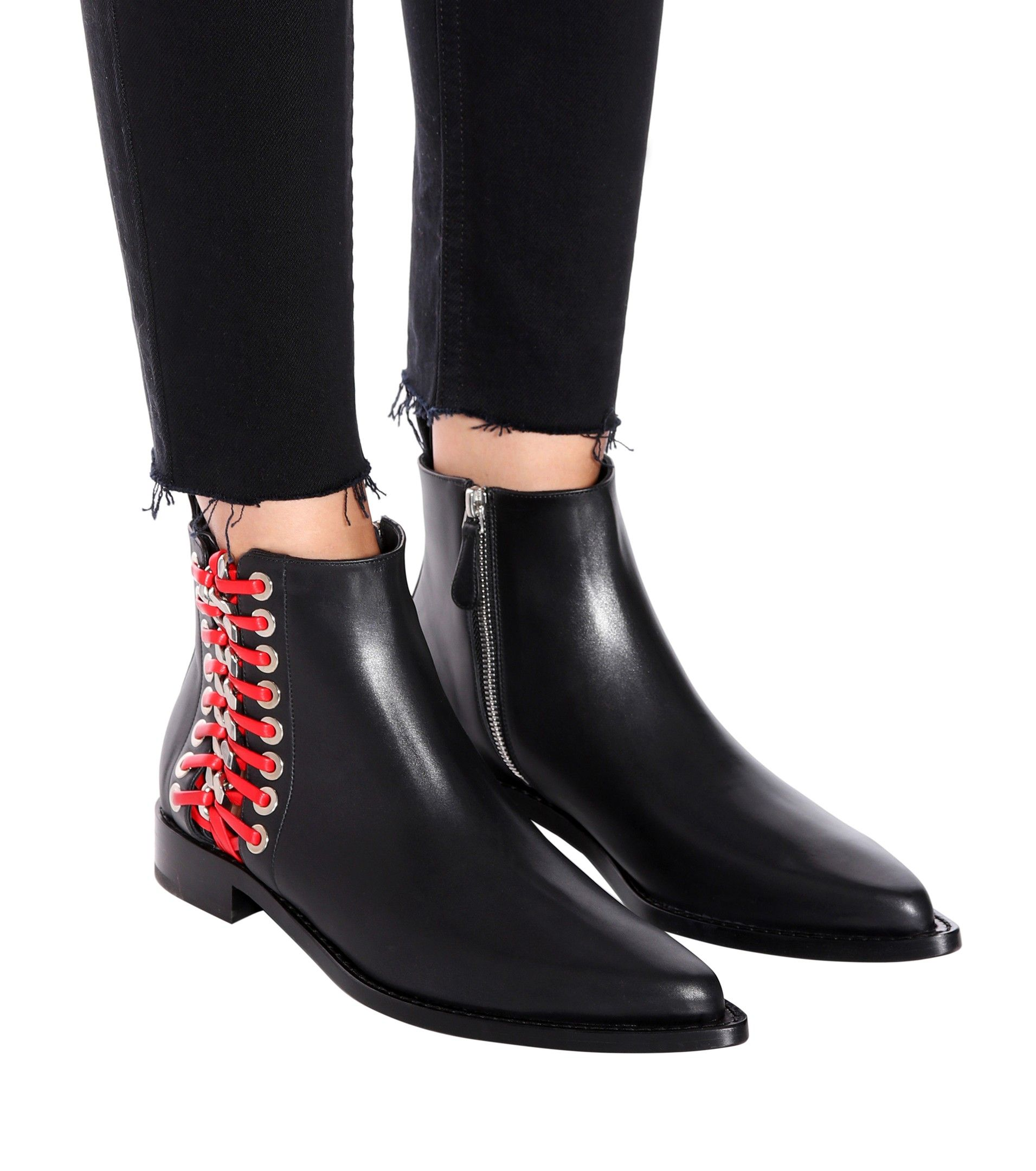 Leather cowboy boots Alexander McQueen SLUBTfg
