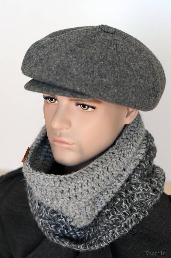 d510a05c6cb87 Gray newsboy cap Mens newsboy hat Peaky Blinders hat Autumn hat women Baker  boy hat Unisex newsie ha