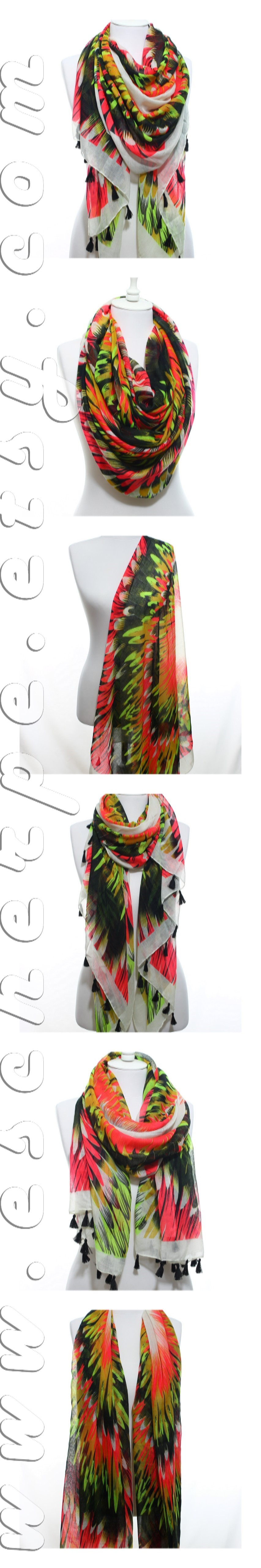 Neon Wings Scarf, So Soft Lightweight Spring Summer Scarf Women's Fashion Accessories Beach Wrap Mother's Day Easter Gift For Girlfriends #escherpe #scarves #scarf #shawl #shawls #wrap #wraps #tartan #plaid #check #summer #trend #spring #women #fashion #accessories #holidays #holiday #christmas #gift #gifts #outfit #accessorize #style #stylish #love #cobalt #me #cute #valentines #nails #floral #beauty #beautiful #paisley #beige #pretty #chevron #pink #yellow #wine #green #shoes #zigzag…
