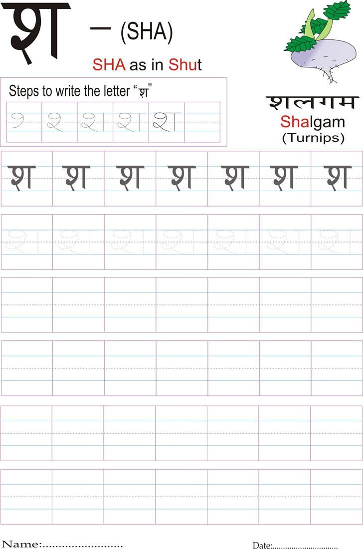 Hindi alphabet practice worksheet | Language | Pinterest ...