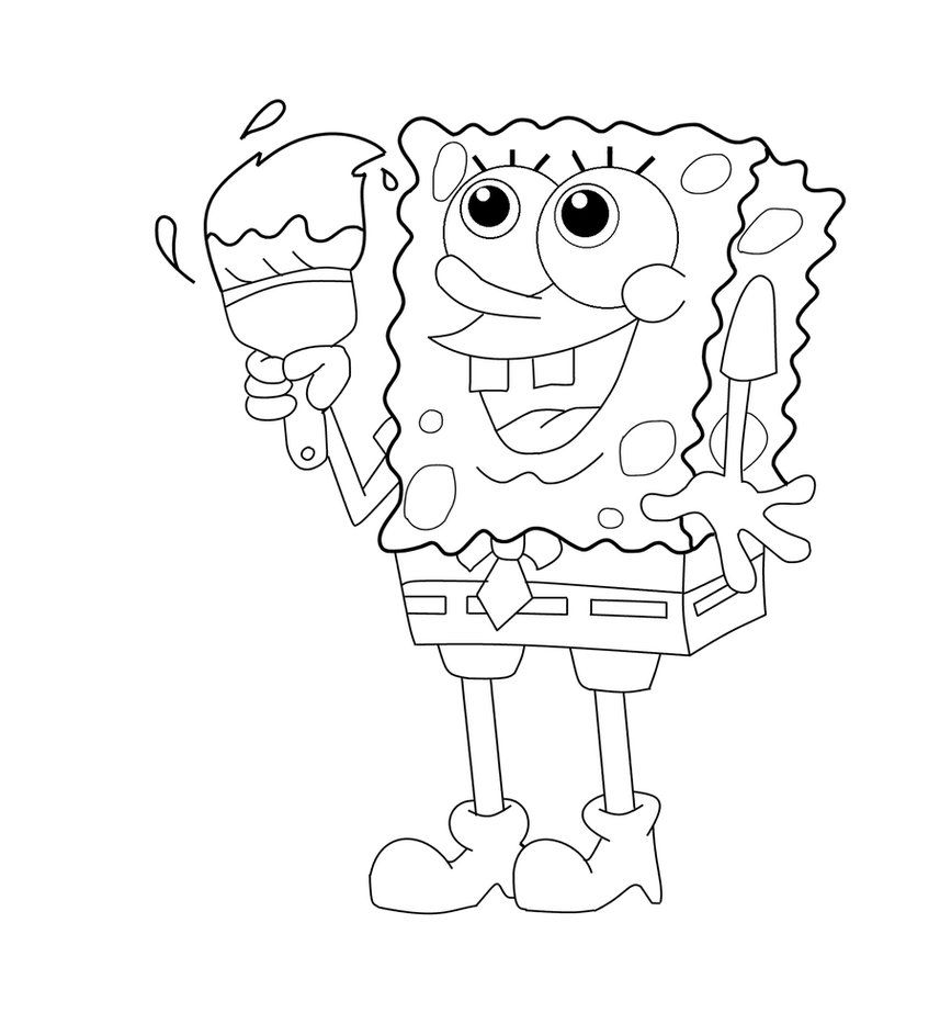 Spongebob coloring page by Kabocha24 on DeviantArt | kleurplaten ...