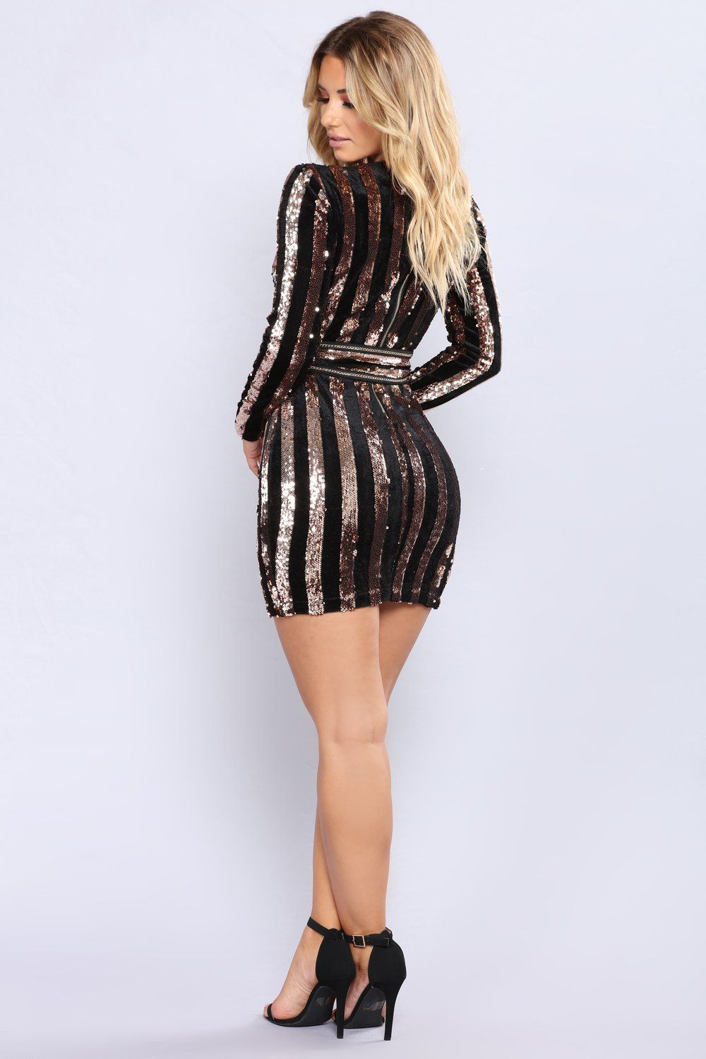 Rome sequin dress rose gold sequins gold and mini dresses