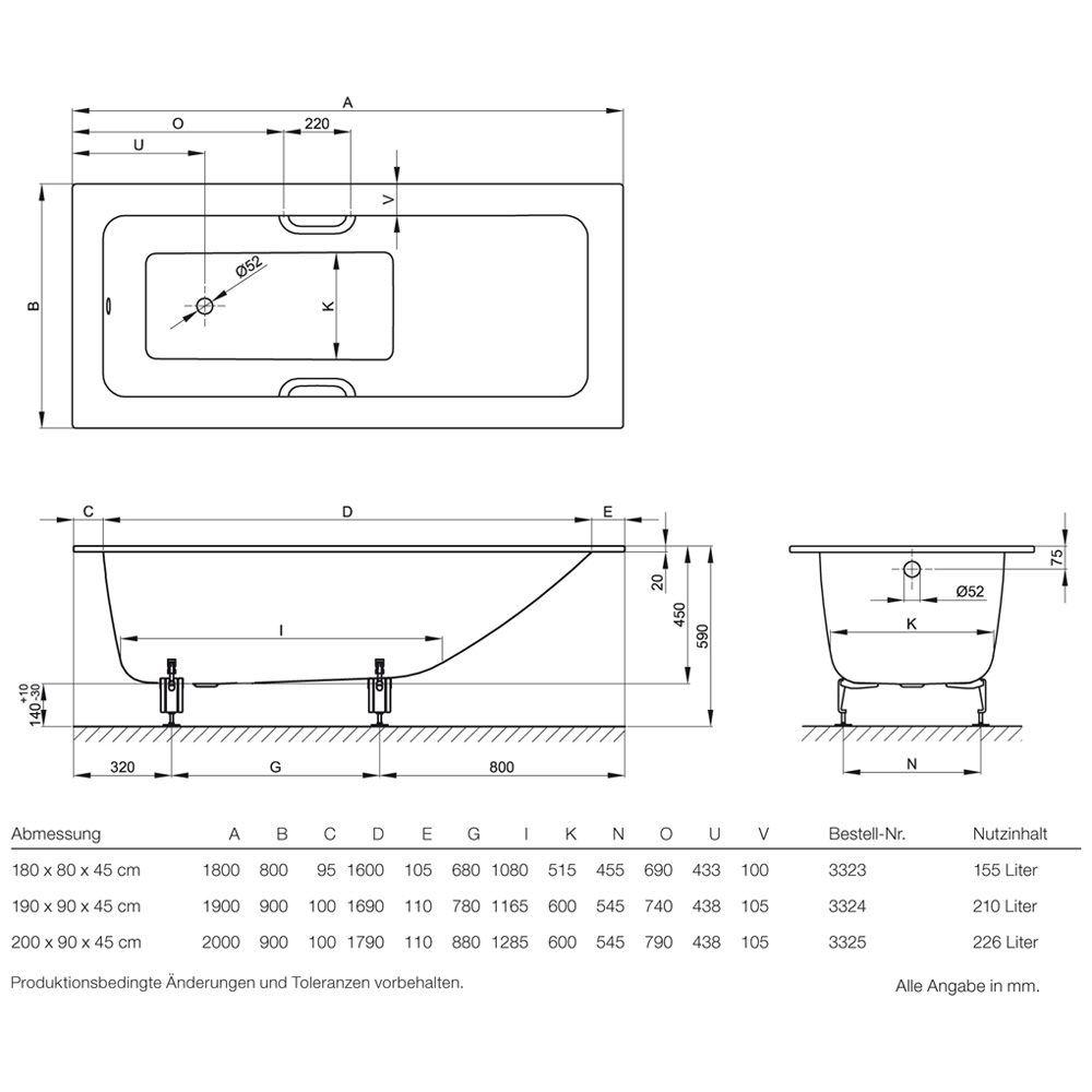 Bette One Badewanne 180x80 Floor Plans Diagram Sheet Music