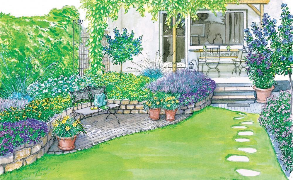Ideen für einen Reihenhausgarten | Pinterest | Reihenhausgarten ...