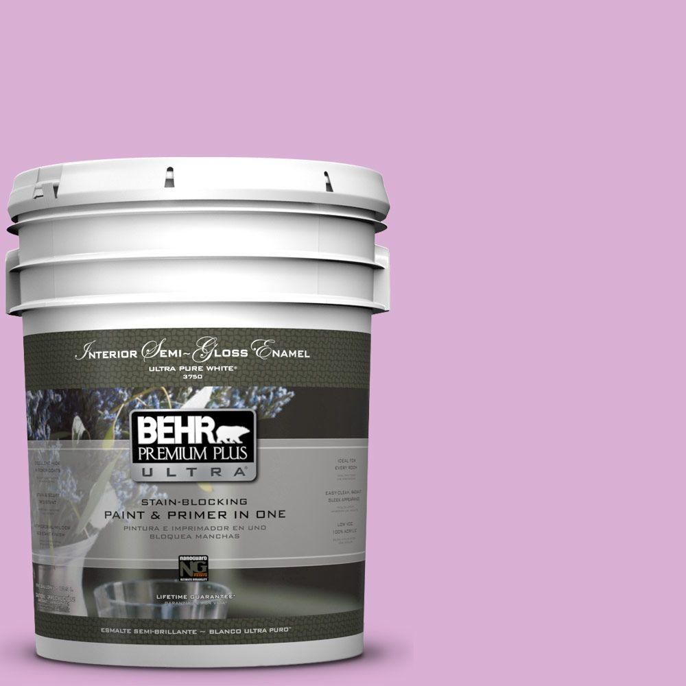 BEHR Premium Plus Ultra 5-gal. #P110-3 BFF Semi-Gloss Enamel Interior Paint