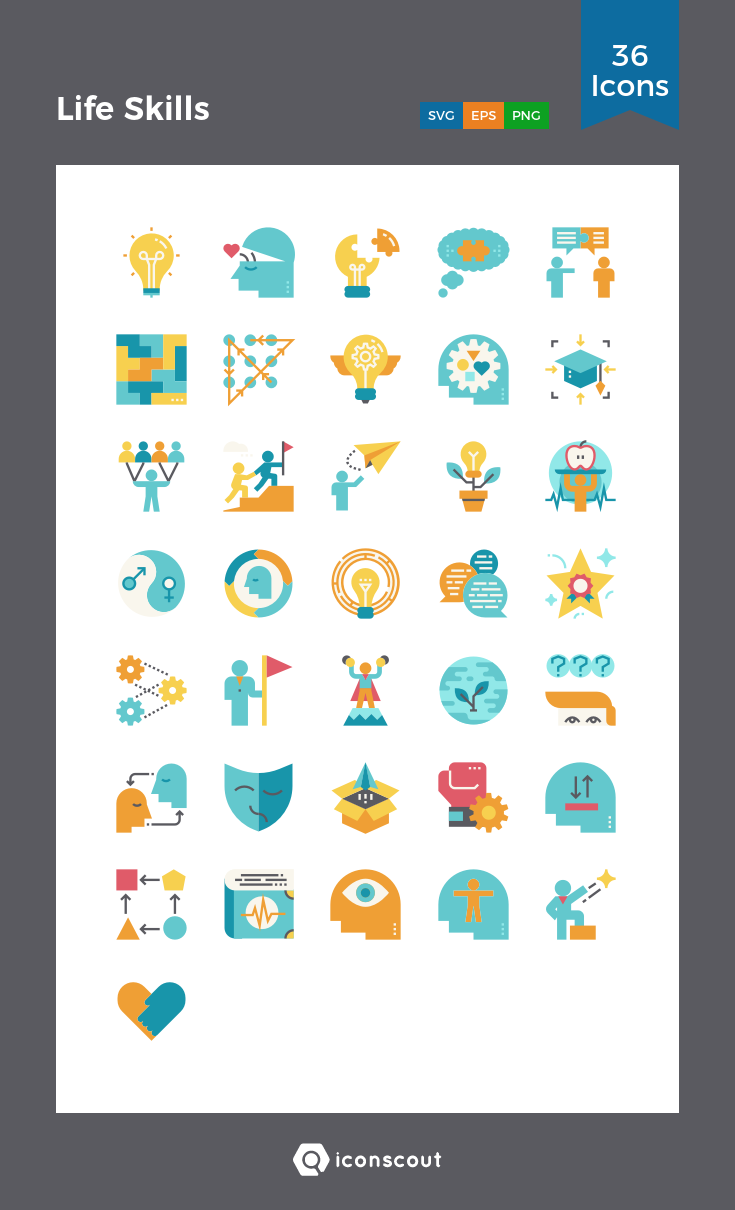 Download Life Skills Icon Pack Available In Svg Png Eps Ai Icon Fonts Life Skills Icon Pack Skills