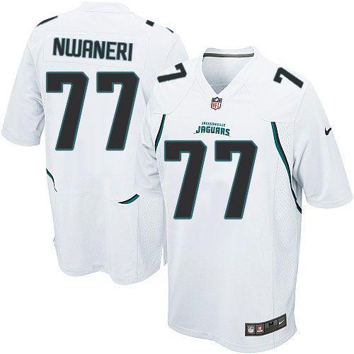 Men s Nike Jacksonville Jaguars  77 Uche Nwaneri Limited White NFL Jersey  Sale Panthers Christian McCaffrey 6546abc33