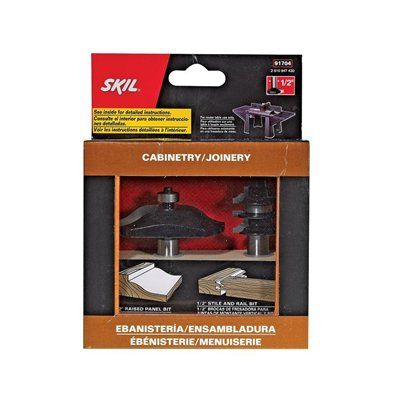 Skil Solid Carbide Raised Panel And Stile And Rail Bit Set Router Bits Raised Panel Hand Tools
