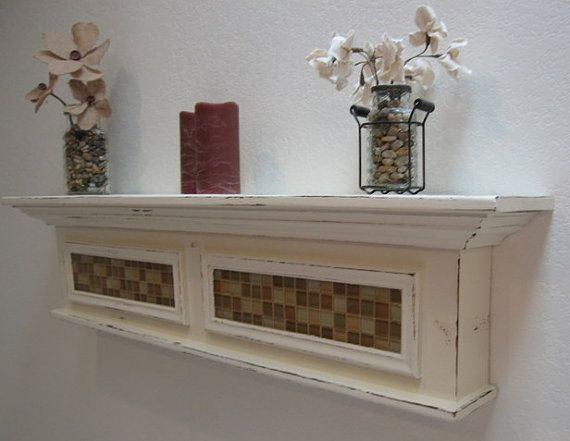 Items Similar To White Distressed Wall Shelf Belcourt On Etsy