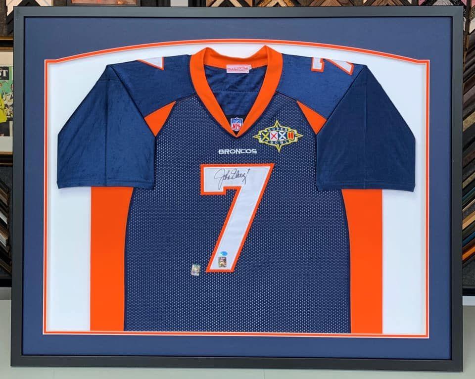 new arrivals 661aa 27170 💙🏈🧡 Custom framed John Elway Denver Broncos Super Bowl ...