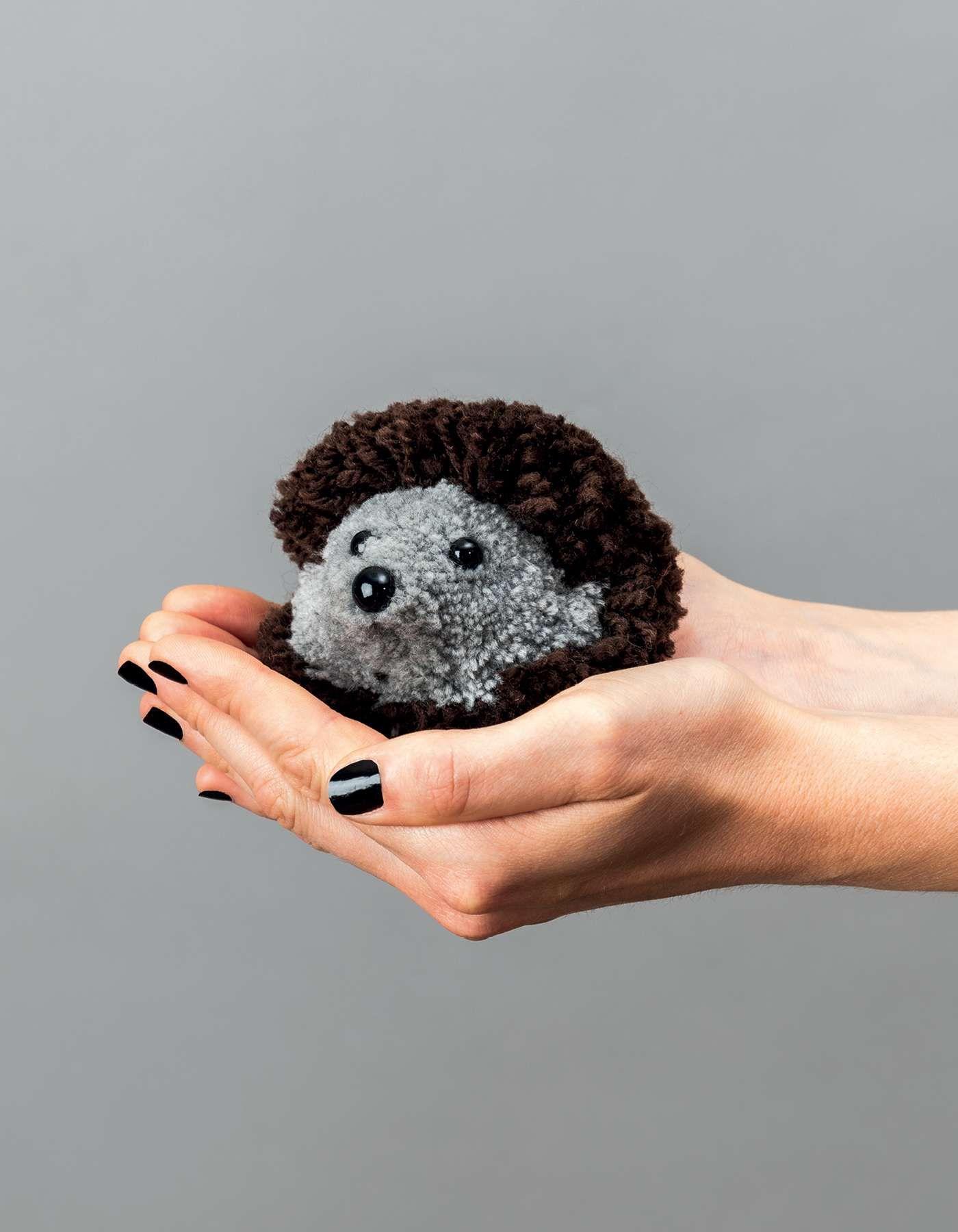Anleitung Pompon Igel Basteln Basteln Mit Kindern Basteln