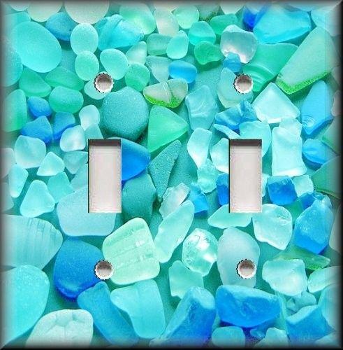 Light Switch Plate Cover Beautiful Beach Gl Blues Spa Bathroom Decor