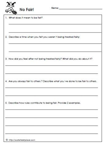 All Worksheets » Honesty Worksheets For Adults - Printable ...
