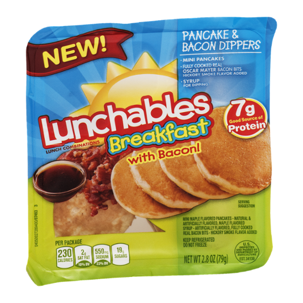 I'm learning all about Lunchables Breakfast with Bacon! Pancake