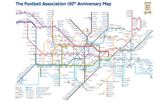 Map Of London Soccer Teams.Tube Map Reinvented For Soccer Fans Graphic Design Pinterest