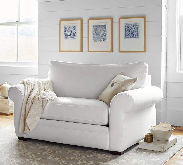 Remarkable Pottery Barn Pearce Upholstered Twin Sleeper Sofa With Dailytribune Chair Design For Home Dailytribuneorg