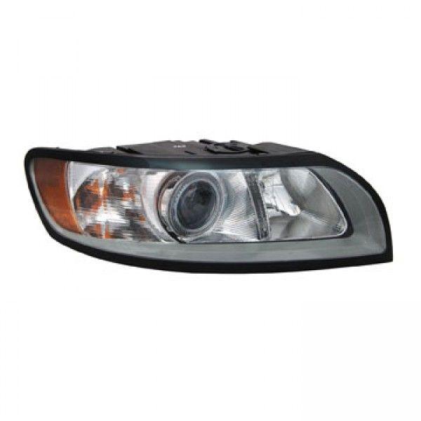2010 Volvo S40 Chrome Clear Euro Headlights Tyc Right Passenger Volvo S40 Volvo Replacement Headlights