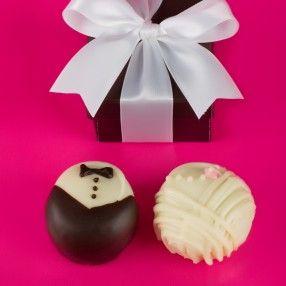 Bride And Groom Chocolate Truffle Wedding Favors