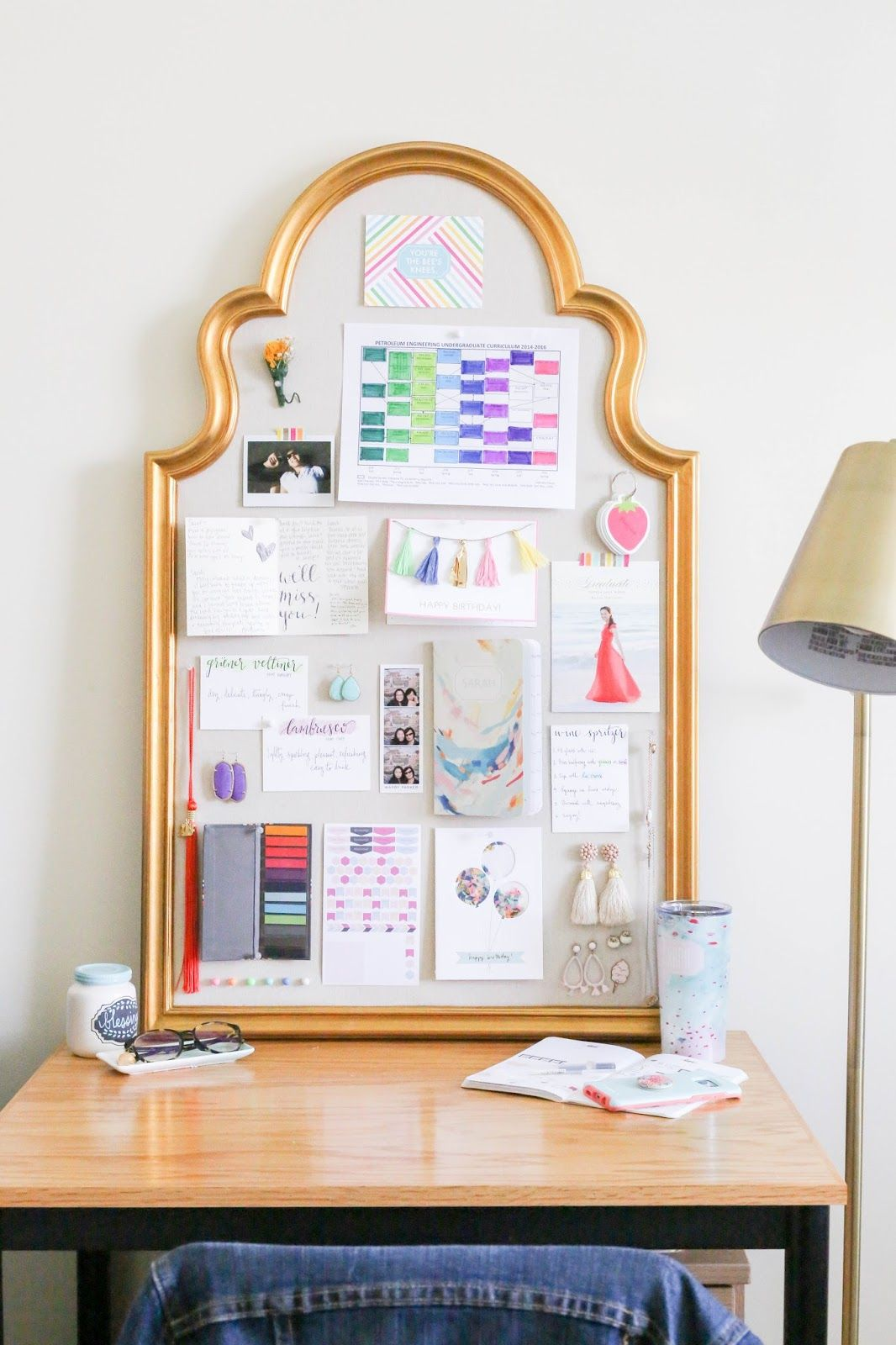How To Decorate A Pinboard The Bella Insider Decor