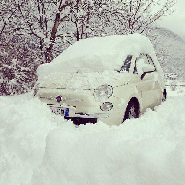 Let it snow... #Fiat500 #Fiat #onboard Fiat