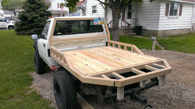 How To Build A Flatbed Truck Out Of Wood