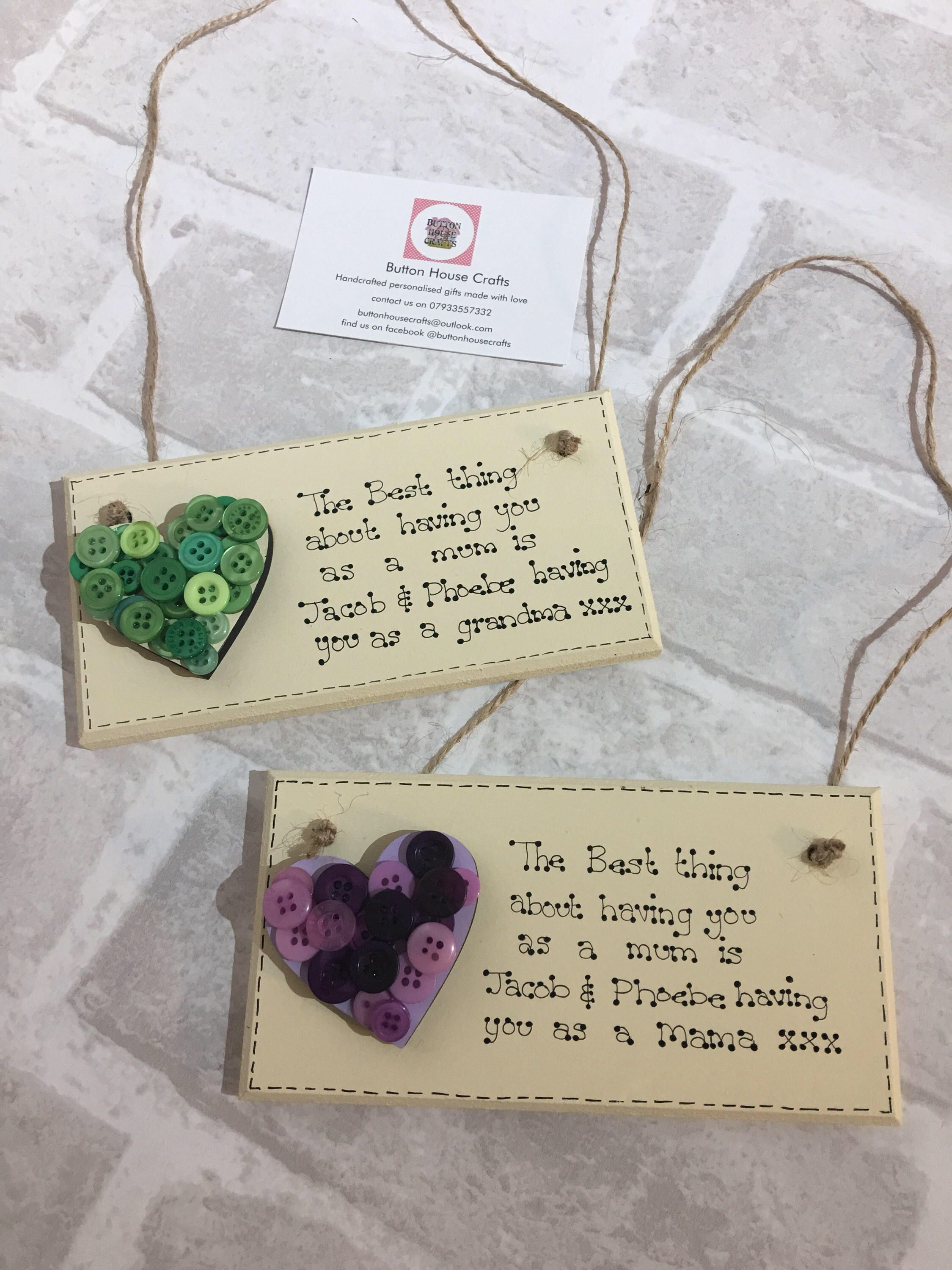 Mother S Day Plaque Mother S Day Gift Nannie Gift Nan Gift