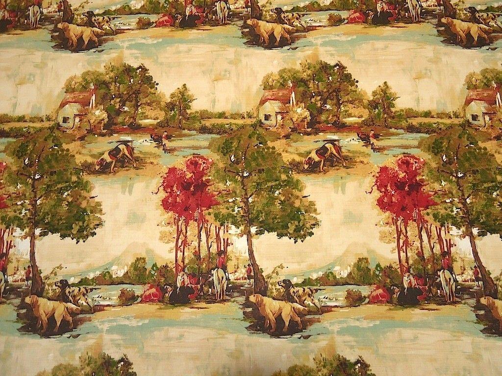 Country Living Cotton Slub Print Curtain & Light Upholstery Fabric - The Millshop Online #fabric #curtains
