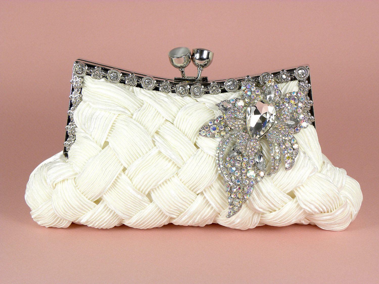 Ivory Bridal Clutch Wedding Clutches Ivory by WhiteAisleBoutique. $98.00, via Etsy.