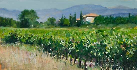 painting of Late Summer by Julian Merrow-Smith