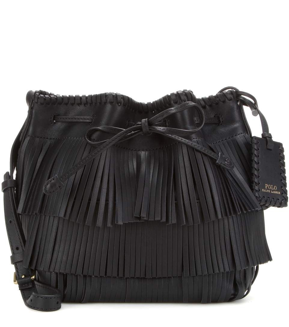ab6421a53321f1 POLO RALPH LAUREN Fringed Leather Cross-Body Bag. #poloralphlauren #bags #shoulder  bags #leather #bucket #lining #