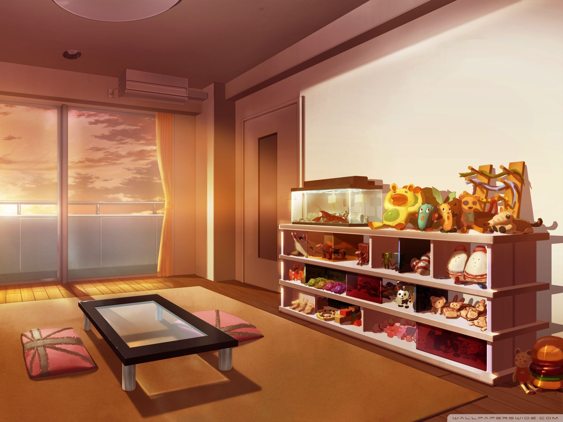 Room Background: Bedroom House Anime Scenery Background Wallpaper