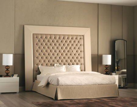 CABECERAS ALTAS Y ACOLCHADAS | almohadas cortinas camas | Pinterest ...