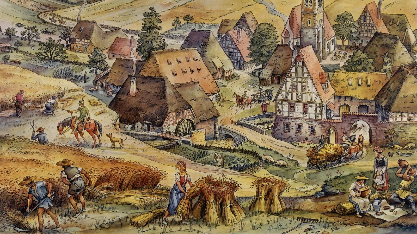 Medieval Village 1600 900 Medieval Middle Ages Medieval Life