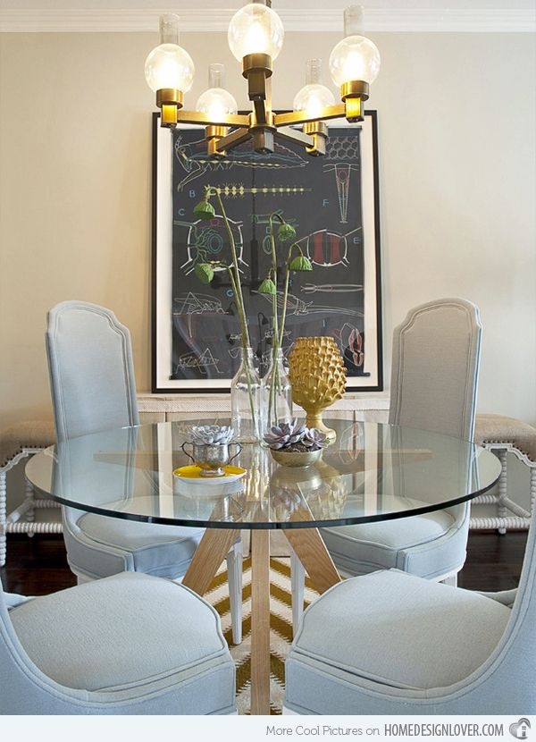 15 Appealing Small Dining Room Ideas Home Design Lover Glass Dining Table Decor Glass Dining Room Table Dining Room Centerpiece