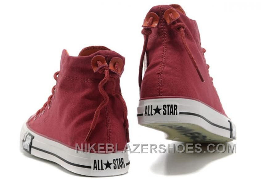 Undefeated Wine Red CONVERSE High Tops All Star Canvas Clear